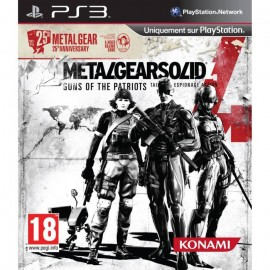 JEU PS3 METAL GEAR SOLID 4 : GUNS OF THE PATRIOTS EDITION 25TH ANNIVERSARY