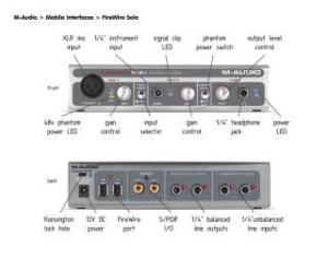 carte son m-audio firewire solo