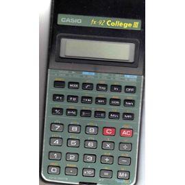 achat calculatrice casio fx92 college d 39 occasion cash express. Black Bedroom Furniture Sets. Home Design Ideas