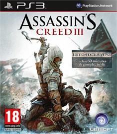 JEU PS3 ASSASSIN'S CREED III (3) (PASS ONLINE)