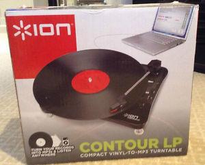 achat platine vinyle ion contour lp d 39 occasion cash express. Black Bedroom Furniture Sets. Home Design Ideas