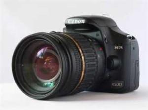 REFLEX 12 MPIX CANON EOS 450D + 18-55MM