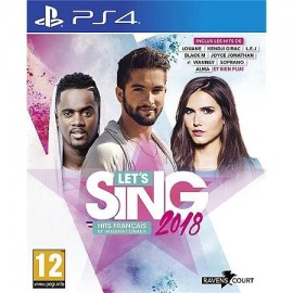 JEU PS4 LET'S SING 2018 : HITS FRANCAIS ET INTERNATIONAUX