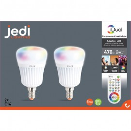 Lampe Idual 3x400lm Jedi LedTelecommande Pw50irfgcz dxeCoBWr