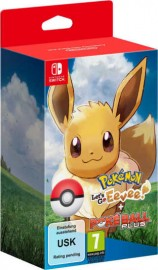 JEU SWITCH POKEMON : LET'S GO EVOLI + POKEBALL PLUS